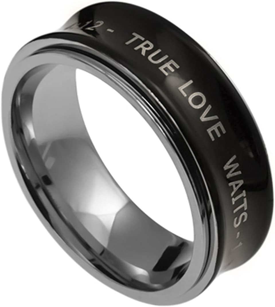 K30 1 Timothy 4:12 True Love Waits Purity Ring Abstinence Christian Promise Ring Scripture Verse