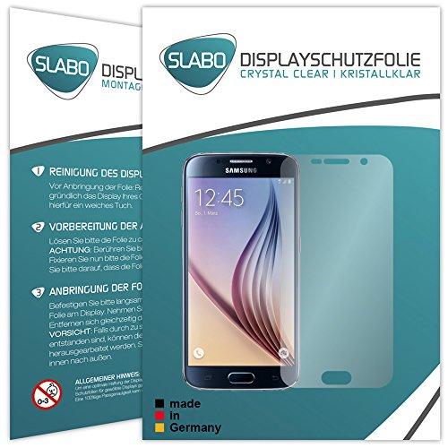 Slabo 4 x Displayschutzfolie für Samsung Galaxy S6 Mini Displayfolie Schutzfolie Folie Zubehör Crystal Clear KLAR