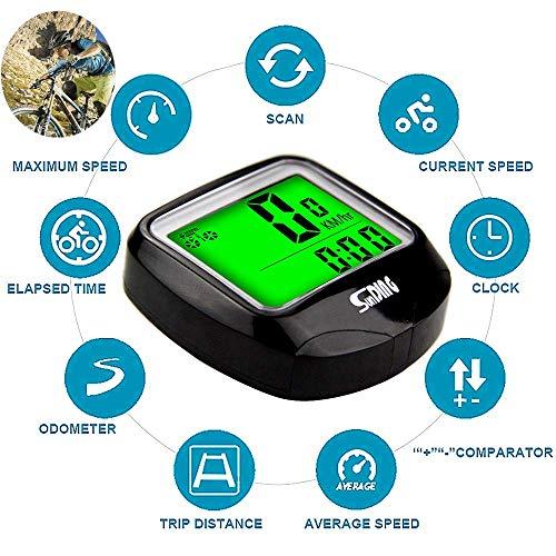 ARCELI SD-568C Sensore per Bicicletta Multifunzione per contachilometri Wireless Sensori Mini cronometro LCD Digitale Impermeabile