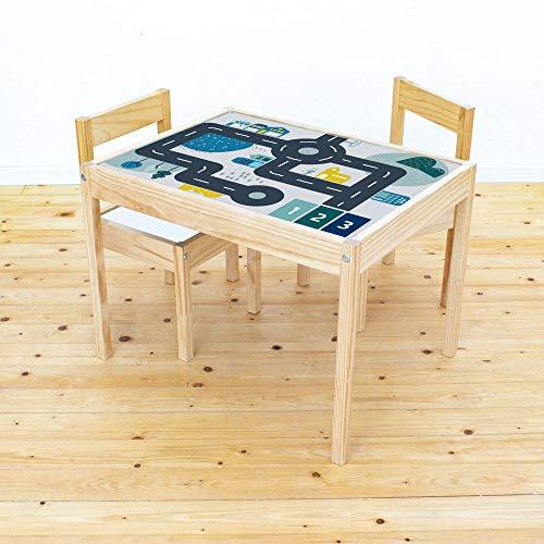 Limmaland Möbelaufkleber Straßen - passend für IKEA LÄTT Kindertisch - Kinderzimmer Spieltisch - Möbel Nicht inklusive