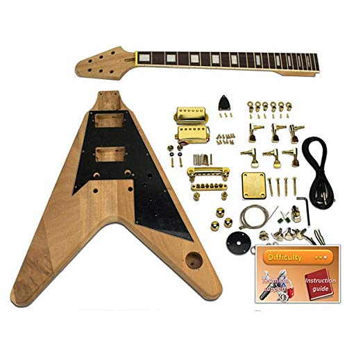 Guitarra DIY - Flying-V, caoba