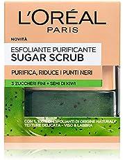 L'Oréal Paris Scrub Viso e Labbra Sugar Scrub, Esfoliante Purificante con Cristalli Fini di Zucchero e Semi di Kiwi, 50 ml, Confezione da 1