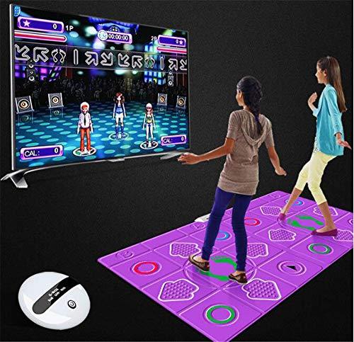 BCLGCF Doppelte Tanzmatte Drahtlose Spielmatte rutschfeste Strapazierfähige, Verschleißfeste Tanzschrittmatte Musikspielmatte Tänzer Decke TV Somatosensorische Tanzmatten Für Erwachsene Kinder
