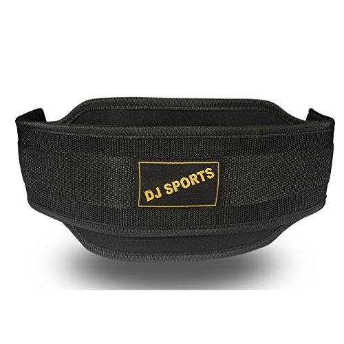 Dip Gürtel aus Nylon in schwarz | Dipgürtel Trainingsgürtel mit ca. 80cm Länge | Eisenkette