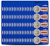 Murata CR2032 Battery 3V Lithium Coin Cell - Replaces Sony CR2032 (100 Batteries)