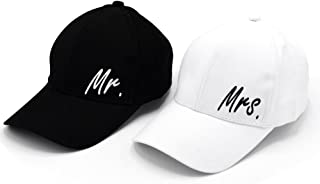 Personalized Wedding Gifts Mr. & Mrs. Baseball Cap Hat Classic Style.