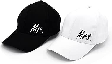 PumPumpz Personalized Wedding Gifts Mr. & Mrs. Baseball Cap Hat Classic Style.