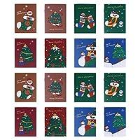 NUOBESTY クリスマスホリデーメモ帳50個、8.5X11。 7Cmアソートクリスマステーマ小さなポケットが並ぶノートジャーナル漫画キッズクリスマスリワード学生文房具-ランダム