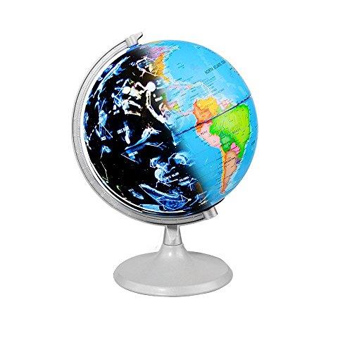 CamKing: Beleuchtete Weltkugel mit detaillierter Weltkarte, für Kinder, Astronomie und Geographie