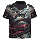 Manga Corta Verano Nueva Camiseta De Calavera 3D para Hombre, Camiseta De Manga Corta, Camisetas DivertidasPunk Anime Gothic3Dt-Shirt Mens Clothi