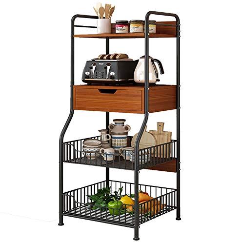 GLFZWJ keuken vloer plank meerlagige magnetron oven plank staal plank opslag rack kom plank eenvoudige opslag rack Oven rack