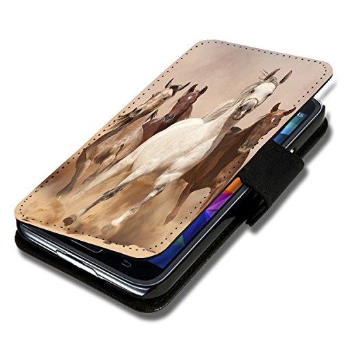 Book Style Flip Handy Tasche Hülle Schutz Hülle Foto Schale Motiv Etui für Microsoft Lumia 535 - A38 Design10