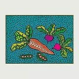 JIAJIFBH Impresiones artísticas 20x30cm sin Marco Zanahoria Lienzo Pintura Carteles Abstractos e Impresiones Arte de la Pared Sala de Estar Cuadros Decoración del hogar