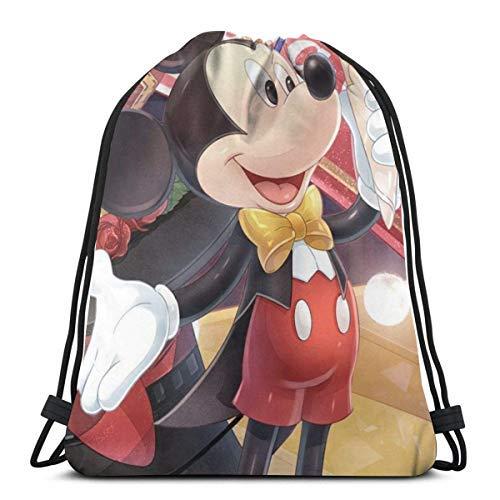 XCNGG Bolsa con cordón Bolsa con cordón Bolsa portátil Bolsa de Gimnasio Bolsa de Compras Classic Drawstring Bag-Love Mouse Gym Backpack Shoulder Bags Sport Storage Bag for Man Women