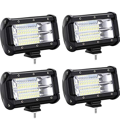 HENGMEI LED Arbeitsscheinwerfer 72W LED Offroad Zusatzscheinwerfer 12V 24V Auto Scheinwerfer Arbeitslicht IP67 Wasserdicht für SUV, UTV, ATV, LKW (4 x 72W)
