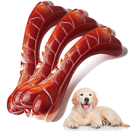 Dog Toys for Aggressive Chewers, Indestructible Durable Dog Chew Toys, Non-Toxic Food Grade Nylon Dog Bone Toy Reduces Boredom, Tested by Labrador, Golden Retriever, More Small Medium and Large Breed