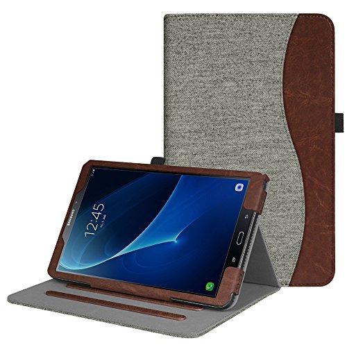Fintie Hülle für Samsung Galaxy Tab A 10,1 Zoll T580N / T585N 2016 Tablet - Multi-Winkel Betrachtung Schutzhülle Cover Case mit Dokumentschlitze, Standfunktion, Auto Wake/Sleep Funktion, Denim grau