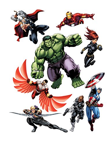 AG Design Marvel Hulk Wand Sticker, 1 Teil, PVC-Folie (Phtalate-Free), Multicolor, 65 x 85 cm