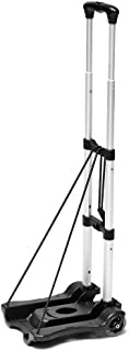 WSHA Foldable Folding Trolley Portable Aluminium Hand Truck Heavy Duty Luggage Cart, Bearing 88lbs, for Car House Office L...