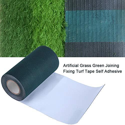 EBTOOLS Künstliches Gras-Nähband, 5 m x 15 cm, Kunstrasen-Klebeband, Nähte, Fugenband, Rasen, Teppich, selbstklebendes Klebeband für Rasenbefestigung, Grün