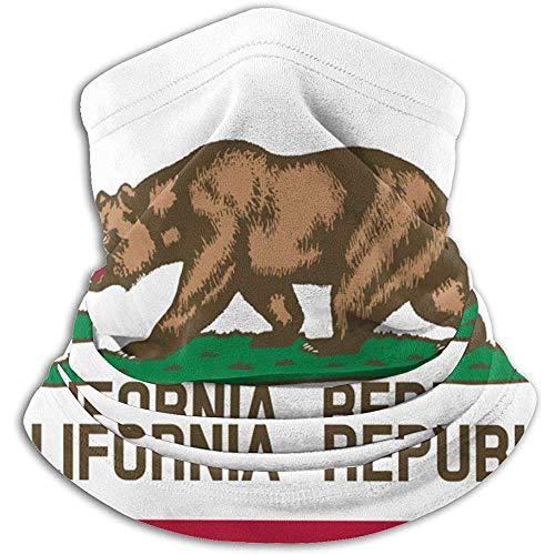 VVGETE Berretto con sciarpa scaldacollo per uomo, bandiera California, da uomo, per pesca in bicicletta