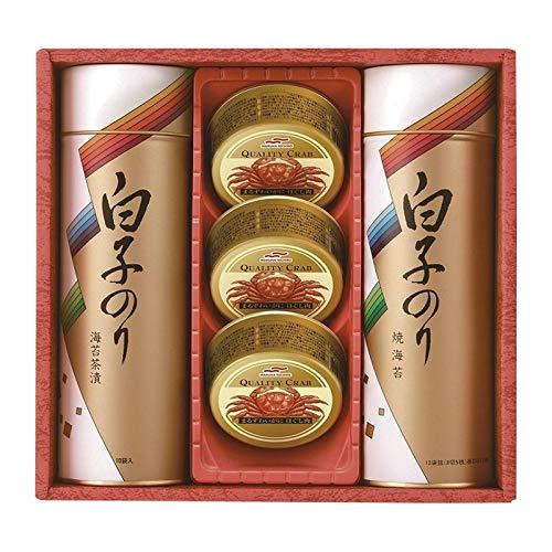 白子のり のりとカニ缶 詰合せ SN-302E 【海苔 詰め合わせ 日本産 国産 ギフトセット】