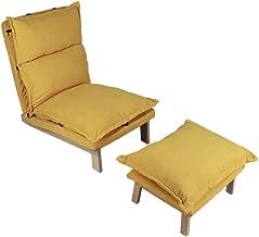 Aynefy, divano letto, divano letto, moderno e rimovibile, in tessuto regolabile, per soggiorno (giallo)