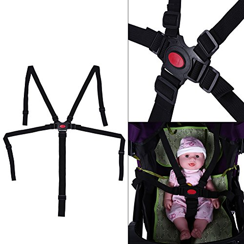 Baby 5 punti di sicurezza bambino seggiolone passeggino cintura di sicurezza per passeggino Buggy da polso per sedia da pranzo per bambini di ricambio