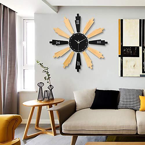 SWNN Wall Clocks Modern Minimalist Design Holzuhren Mode Kunst Wohnzimmer Schlafzimmer Dekoration Uhr Hause Hängenden Tisch Persönlichkeit Kreative Stumm Wanduhr