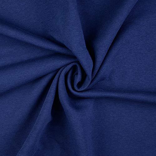 Stoffe Schulz   Sweatstoff uni, marine/dunkelblau   Meterware ab 0,5m