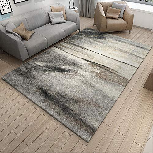 WQ-BBB Resistente A Las Manchas Alfombra habitación Gris Negro Simple Salón Alfombra 80X120cm