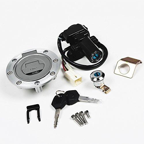 Ignition Switch Fuel Gas Cap Seat Lock Key Compatible with Yamaha YZF R1 2007-2011 YZF R1 2001-2005 FJR1300 2006-2011 YZF R6 2004 2004 2006-2009 YZF R6S 2004-2010 FZ6