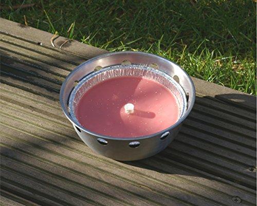 Unbekannt Schwimmkerze (Ersatzkerze) für Schwimmschale Flammschale Gartenteich Schwimmfackel Kerze