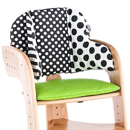 Stuhlkissen f/ür Kinder mit Eulenmotiv aus Baumwolle Herlag Sitzpolster f/ür Tipp Topp Comfort IV Hochstuhl beige /& blau bequeme /& abwaschbare Sitzauflage braun