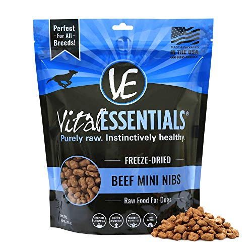 Vital Essentials Freeze-Dried Grain-Free Beef Mini Nibs Dog Food, 1 lb.