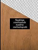 Cuaderno cuadriculado: madera contrachapada: en papel A4 8x11, diseño exterior natural (Colección cuadernos papel cuadriculados textura del bosque tamaño A4 10 diseños exclusivos.)