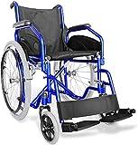 aiesi sedia a rotelle pieghevole leggera ad autospinta - carrozzina per disabili ed anziani agila evolution # braccioli e poggiapiedi estraibili # cintura di sicurezza # garanzia italia 24 mesi
