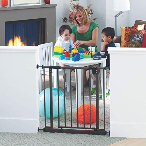 Toddleroo by North States 38.5' Wide Deluxe Easy Close Gate: Sturdy Safety gate with one Hand Operation. Pressure Mount. Fits Openings 28' - 38.5' Wide...