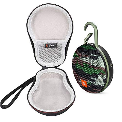 JBL Clip 3 IPX7 Waterproof Portable Bluetooth Speaker Bundle with gSport Deluxe Travel Case (Green Camo)