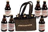 QUATSCHmanufaktur Männerhandtasche/gefüllt mit 6 Bierflaschen  / witzige Sprüche/Herrengeschenk/Partygeschenk  / Sixpack/für echte Männer