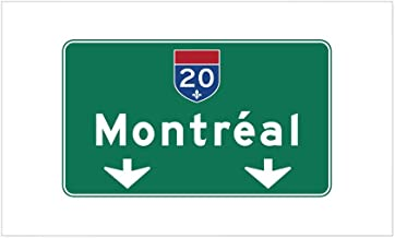 CafePress Montreal, Canada HWY Sign Rectangle Sticker Rectangle Bumper Sticker Car Decal