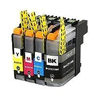 Brother(ブラザー) LC211-4PK 4色 高品質 純正互換インクカートリッジ 残量表示機能付きショップWESI オリジナル