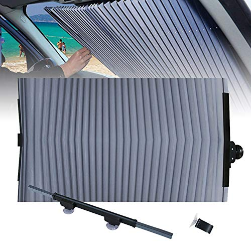 OrangeClub Auto-Windschutzscheiben-Sonnenschutz, Versenkbare UV Schutz Car Sunshade mit Saugnapf , Akkordeon Typ Auto Sonnenschutz für SUV/MVP/LKW 70cm