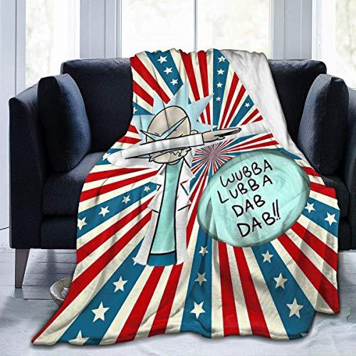 NR Manta de microfibra con diseño de bandera de Día de la Independencia, manta de forro polar, ultra suave, funda de cama de coral para dormitorio, sala de estar, sofá, sofá de 80 x 60 pulgadas