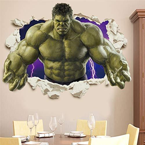 AINSS Pegatinas de pared 3D de los Vengadores de la sala de estar, dormitorio, decoración de la pared del superhéroe cartel de la película pegatinas de la pared de la habitación