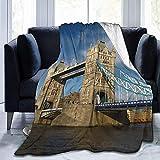 alice-shop Manta de vellón Micro Suave y Ultra Suave de Tower Bridge of London,...