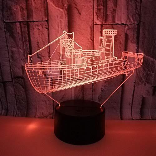 Crucero marítimo Color Noche luz niños Toque Reloj bebé sueño Noche luz Goteo Barco