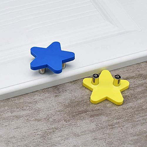 Kinderzimmer Kleiderschrank Griff, 5pcsCartoon Kindermöbel Griff Zubehör Gummi weichen Griff für Schrank, Bücherregal und Kindergarten (Blue Moon)