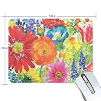 マウスパッド 美しい花柄 水彩画 ゲーミングマウスパッド 滑り止め 19 X 25 厚い 耐久性に優れ おしゃれ