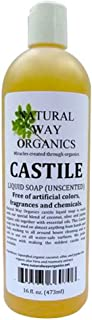Natural Way Organics Ultra Mild Unscented Castile Soap, 16oz - Perfect for Natural Skin Care and Hair Care - Make Your Own...